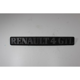RENAULT 4L GTL n°19 Insigne de coffre