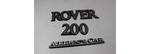 ROVER 200 n°18 Insigne de coffre