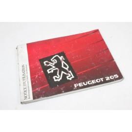 PEUGEOT 205 n°4 pochette auto d'origine