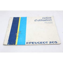 PEUGEOT 205 n°7 notice d'utilisation pochette auto d'origine